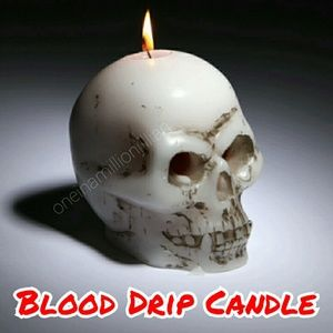 Skull Blood Drip Candle - Holiday Decor